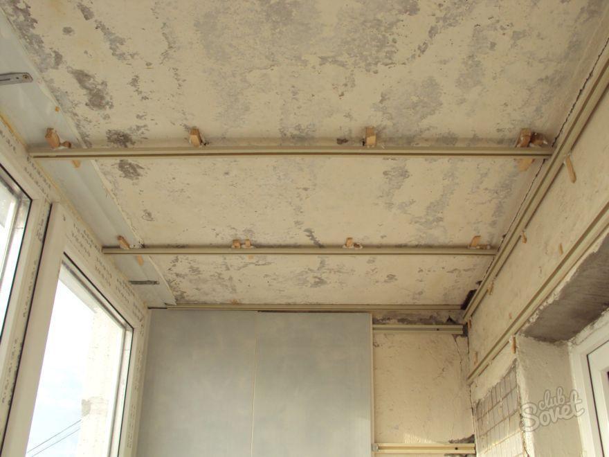 Потолок балкона своими руками