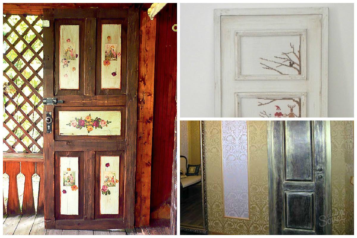 Как отреставрировать входную старую дверь своими руками