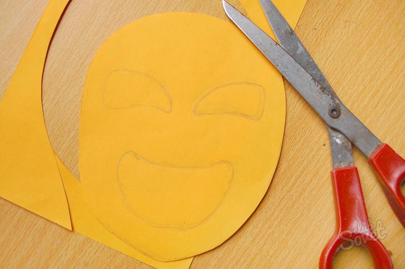 Как сделать из бумаги легкую маску 338