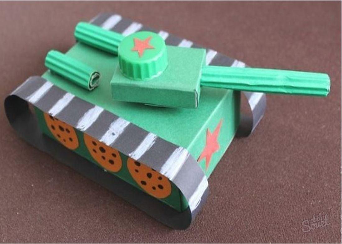 Сделать танк из бумаги своими руками 63