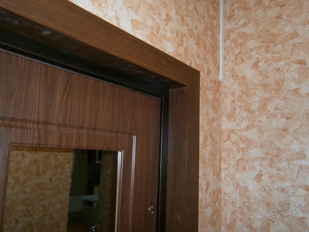 Отделка дверей фото