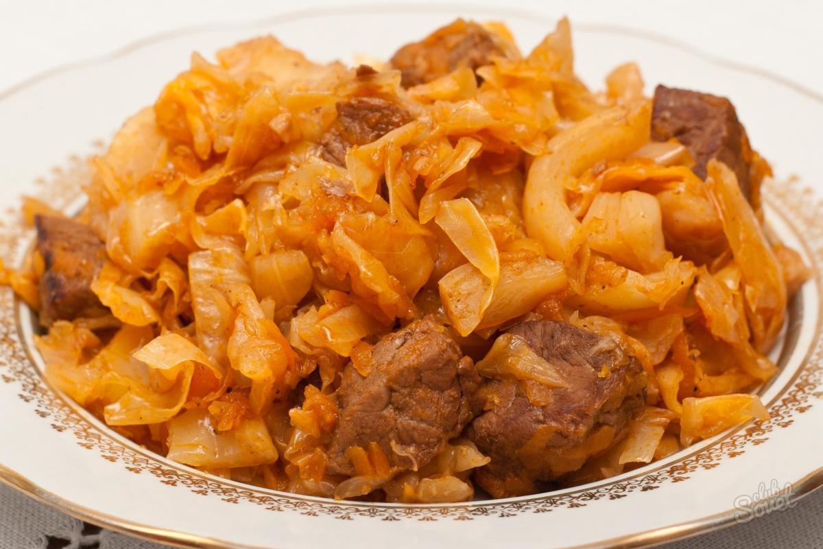 рецепты капусты тушеной с мясом в мультиварке