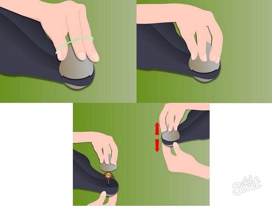 Как снять заклепки с одежды