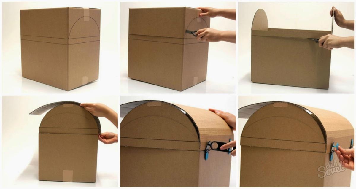 Сундучок картон своими руками