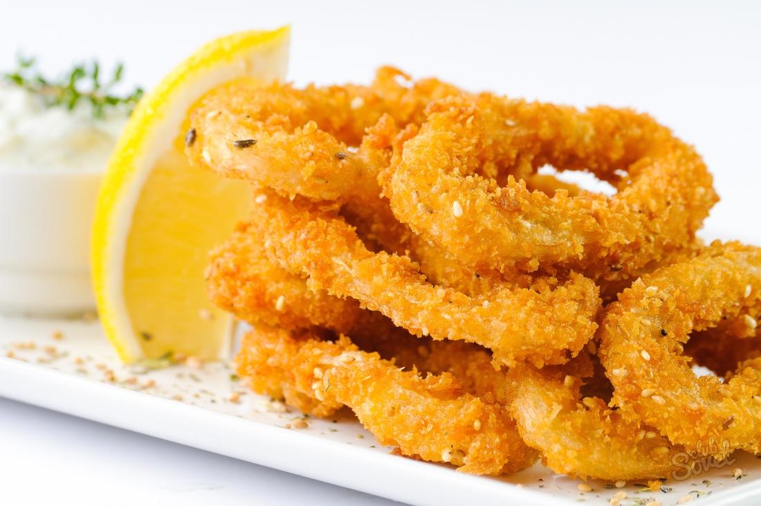 Кольца кальмары к пиву рецепт пошагово