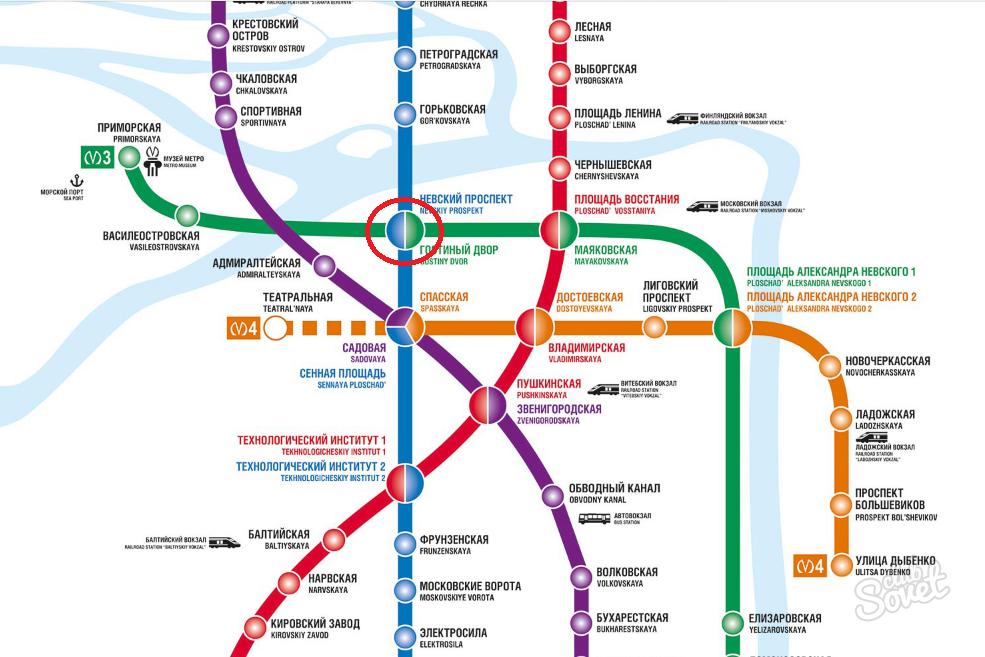 Схема метро спб пулково