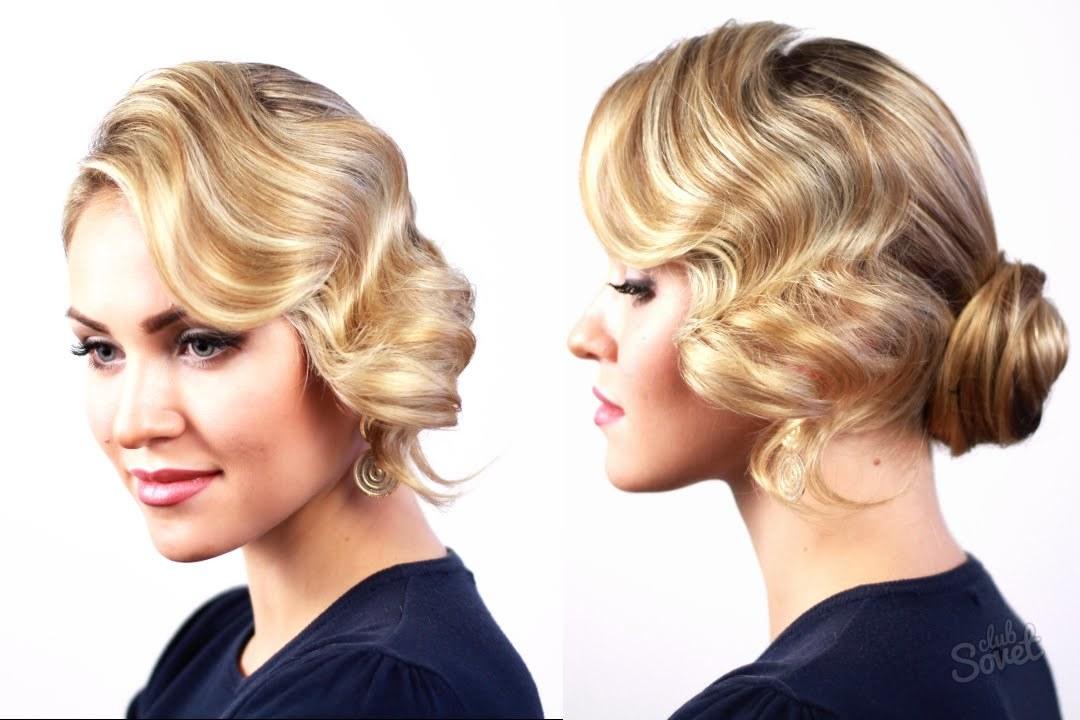Прическа волны на средние волосы фото с челкой
