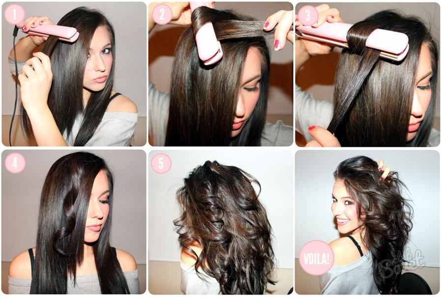 Накрученный волос утюжком фото пошагово