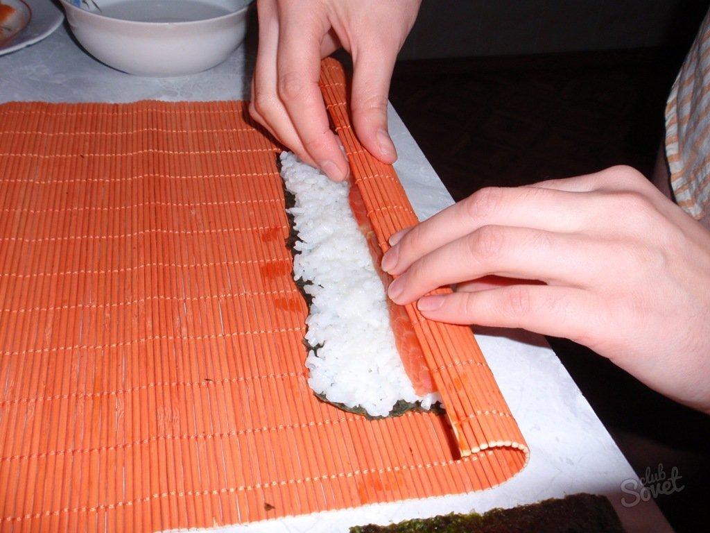 Как сделать в домашних условиях роллы без коврика и