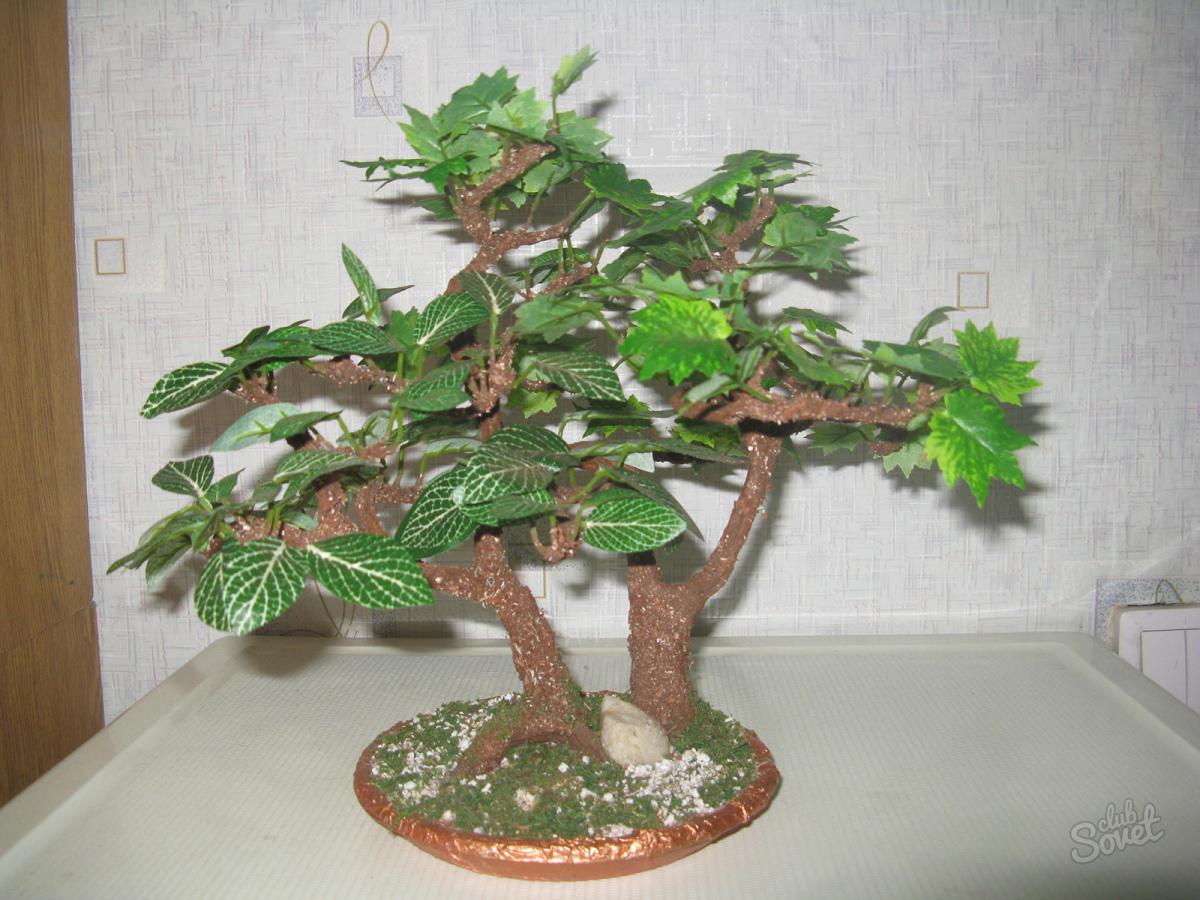 Как и из чего сделать искусственное дерево своими руками фото