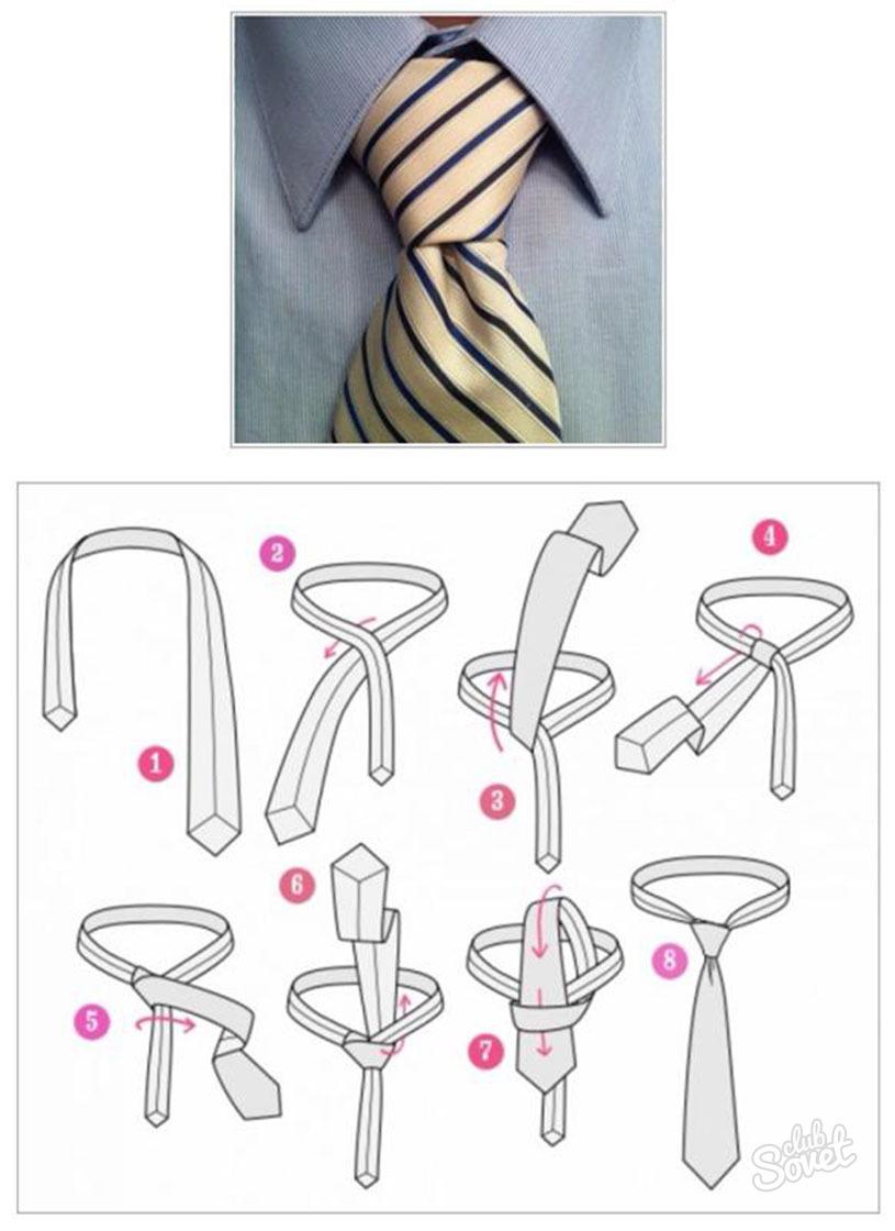 Инструкция завязать галстук женский