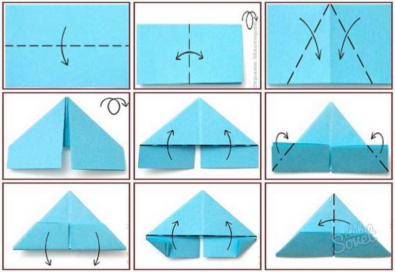 Как из бумаги сделать треугольник на учебник по