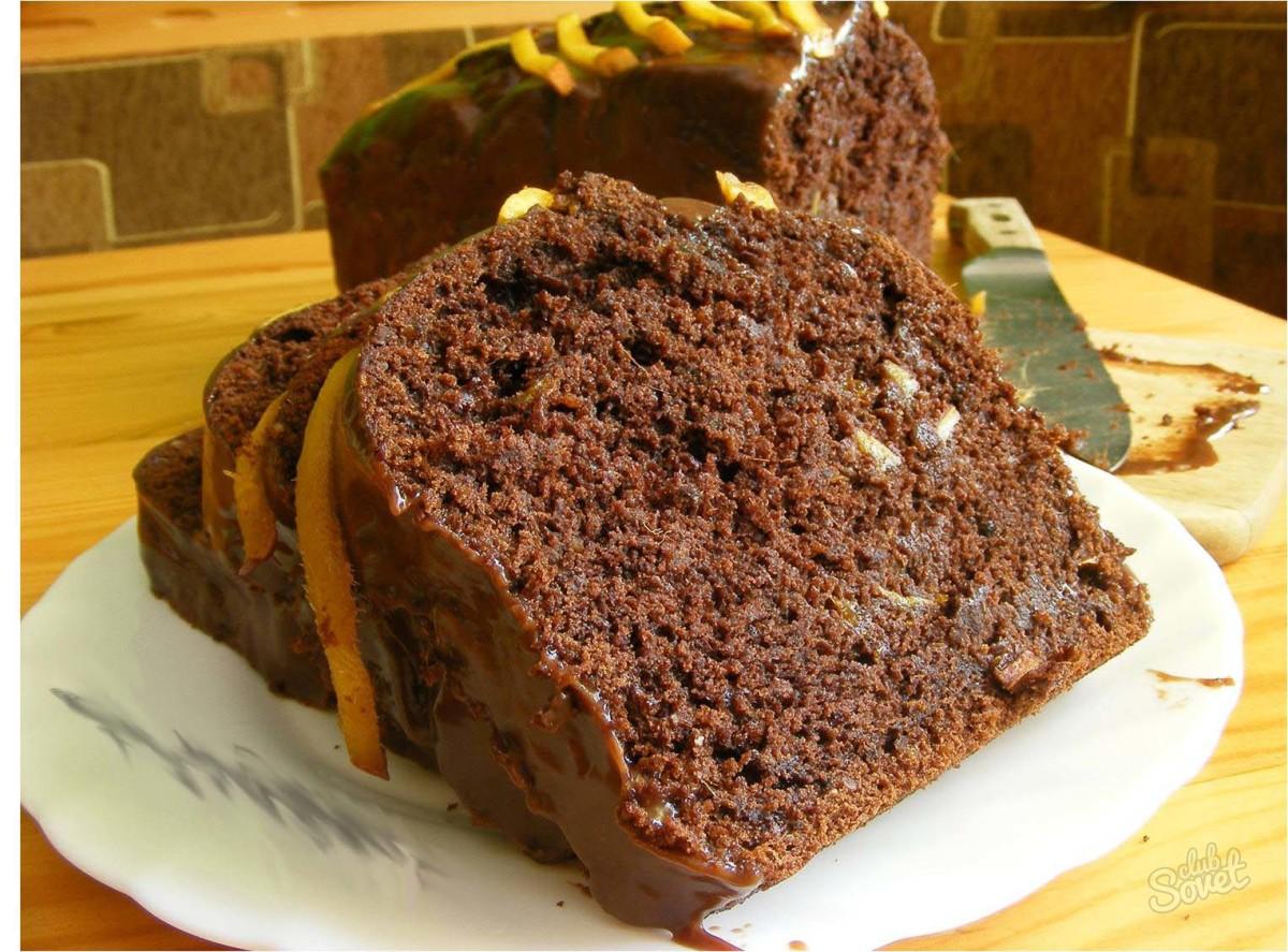 манник на кефире с какао пошаговый рецепт с фото