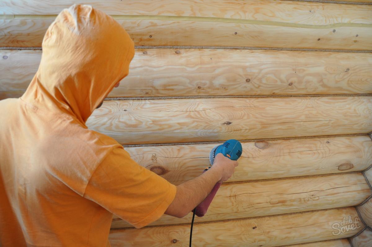 Шлифовка деревянного дома из бруса своими руками