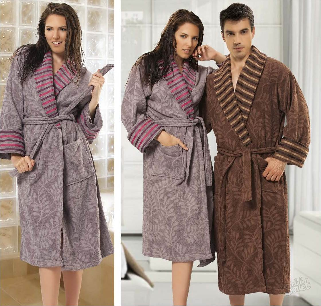 Халаты женские и мужские