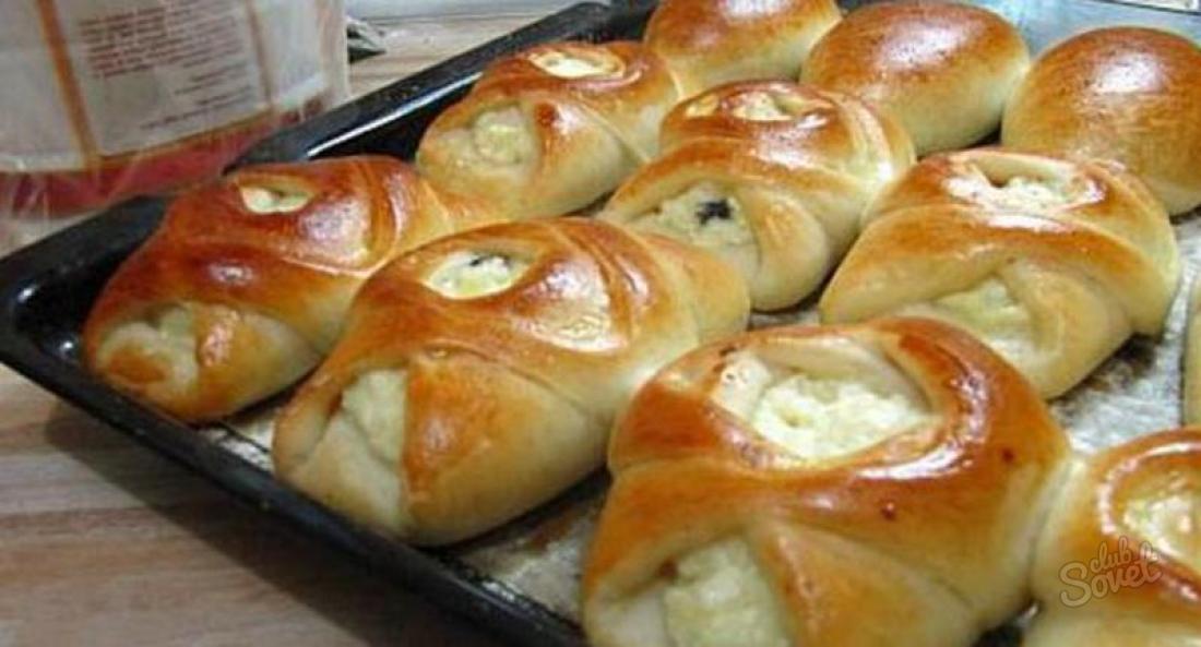 Рецепт булочек с творогом в духовке