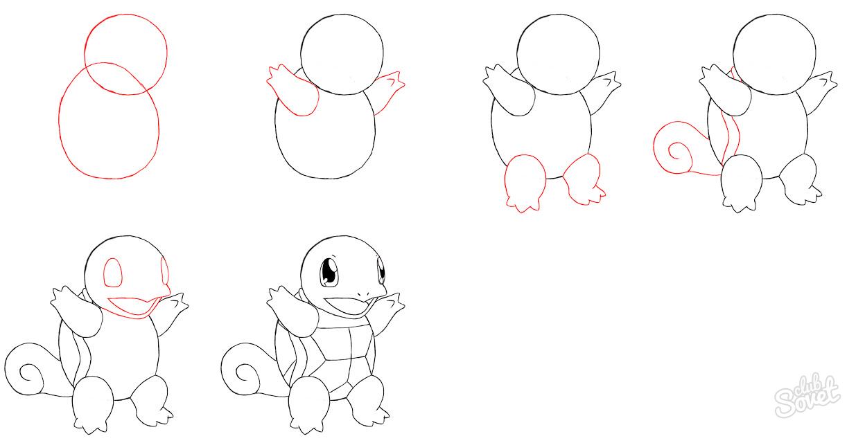 Как нарисовать Покемона карандашом поэтапно?