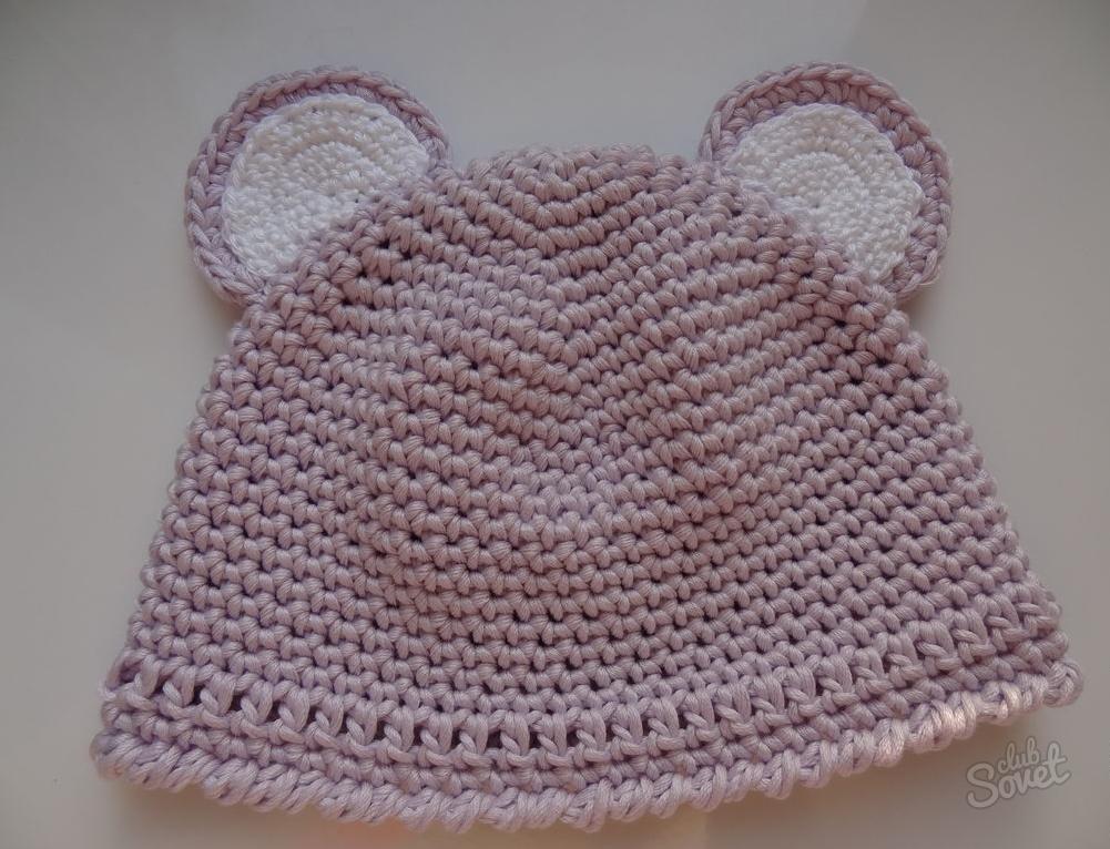 Связать ажурные шапочки для новорожденного