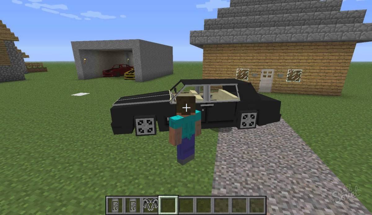Как в игре майнкрафт сделать машину без модов
