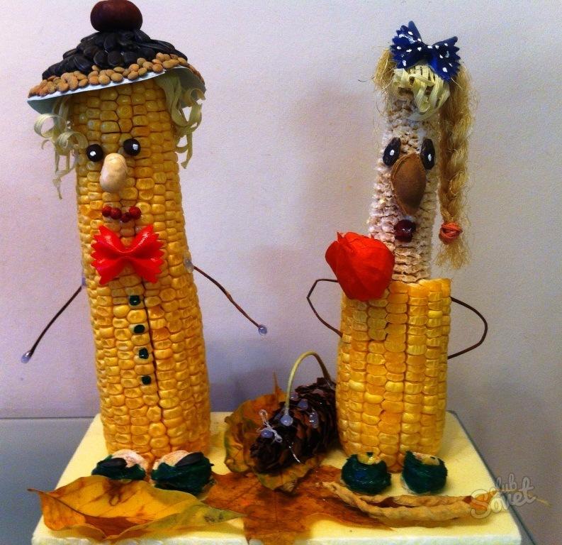 Дары осени поделки из кукурузы