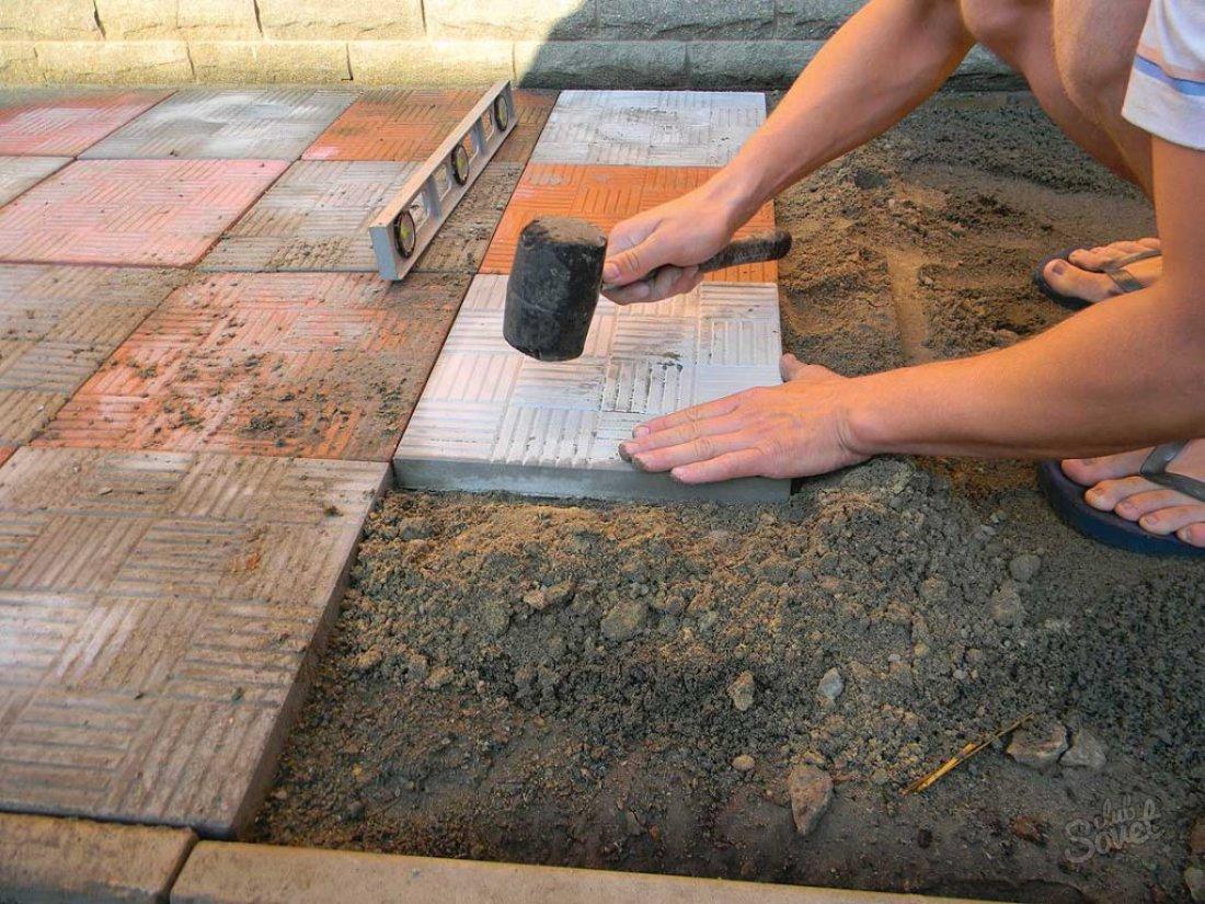 Как правильно сделать дорожку из тротуарной плитки своими руками