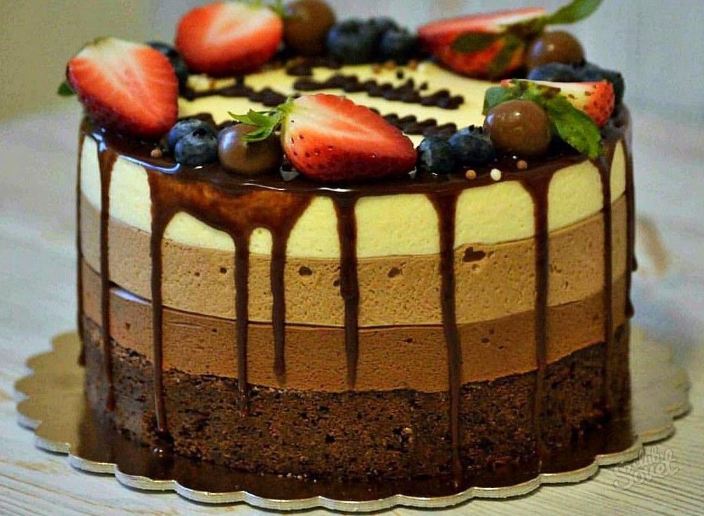 Три шоколада торт рецепт с фото