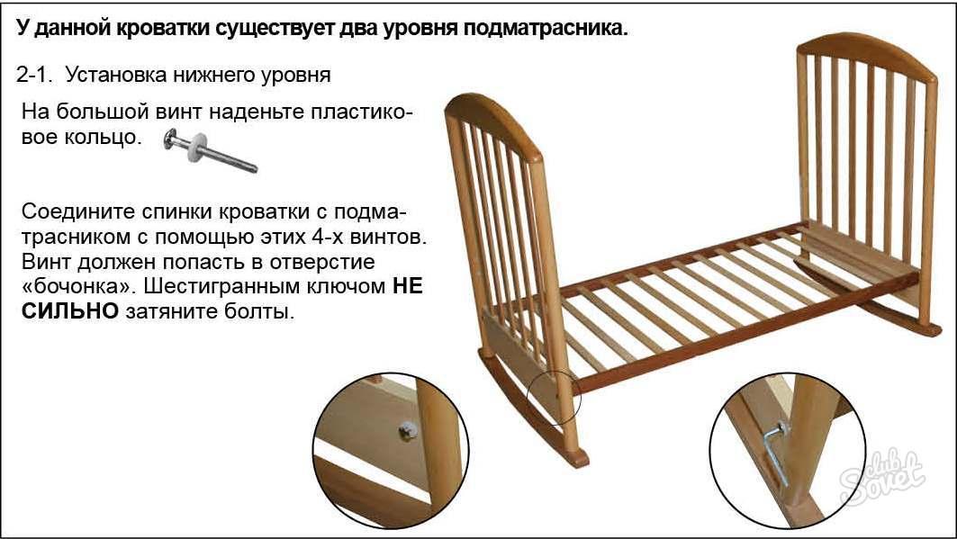 Как собрать детскую кроватку