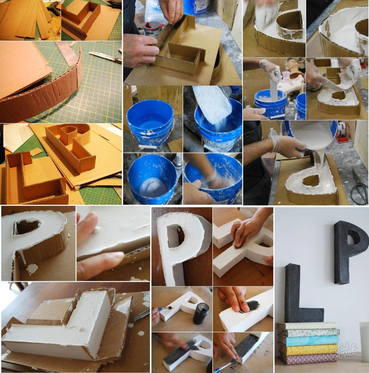 Как сделать объемные буквы своими рука