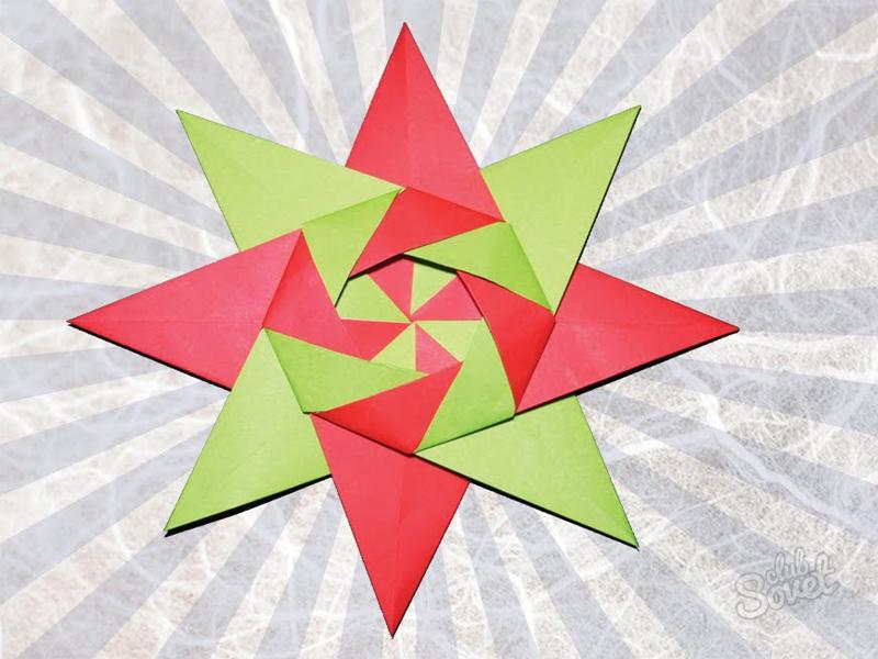 Оригами из бумаги трансформеры сюрикен