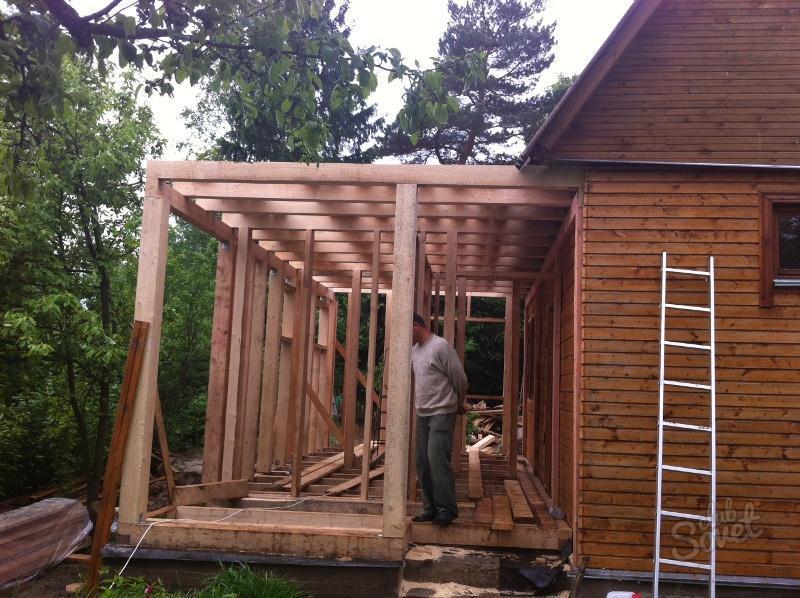 Как пристроить к деревянному дому своими руками