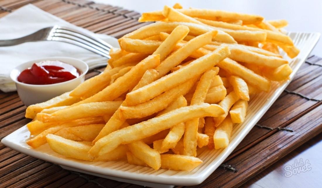 Картофель фри дома рецепт