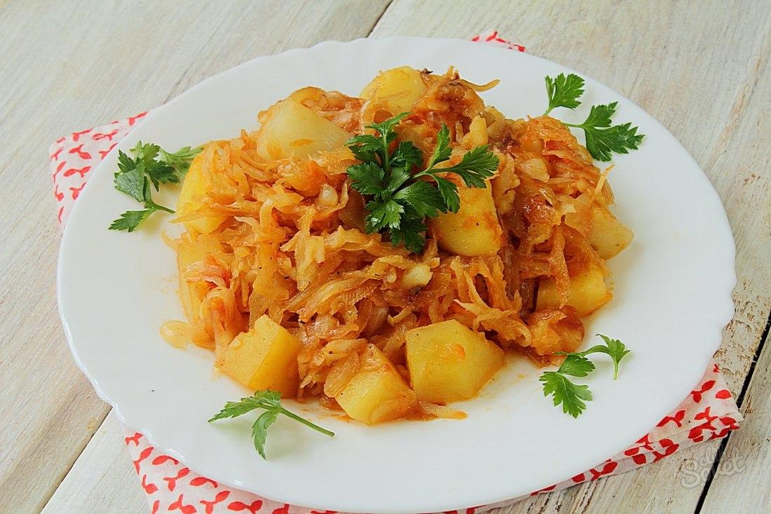 рагу овощное с капустой и с картошкой и грибами