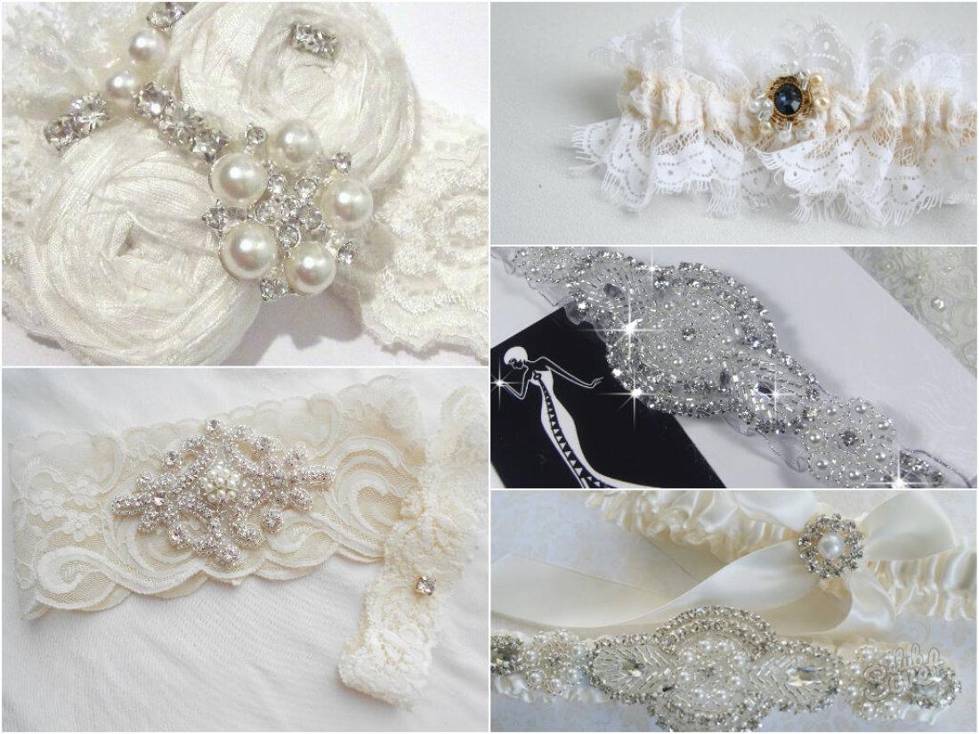 Как сшить подвязку для невесты своими руками кружево 5