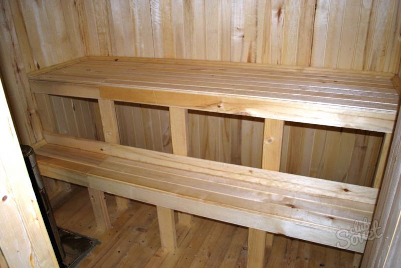 Лежак в баню своими руками фото 34