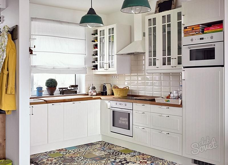 Кухонный гарнитур в интерьере кухни 7.6 м.кв фото
