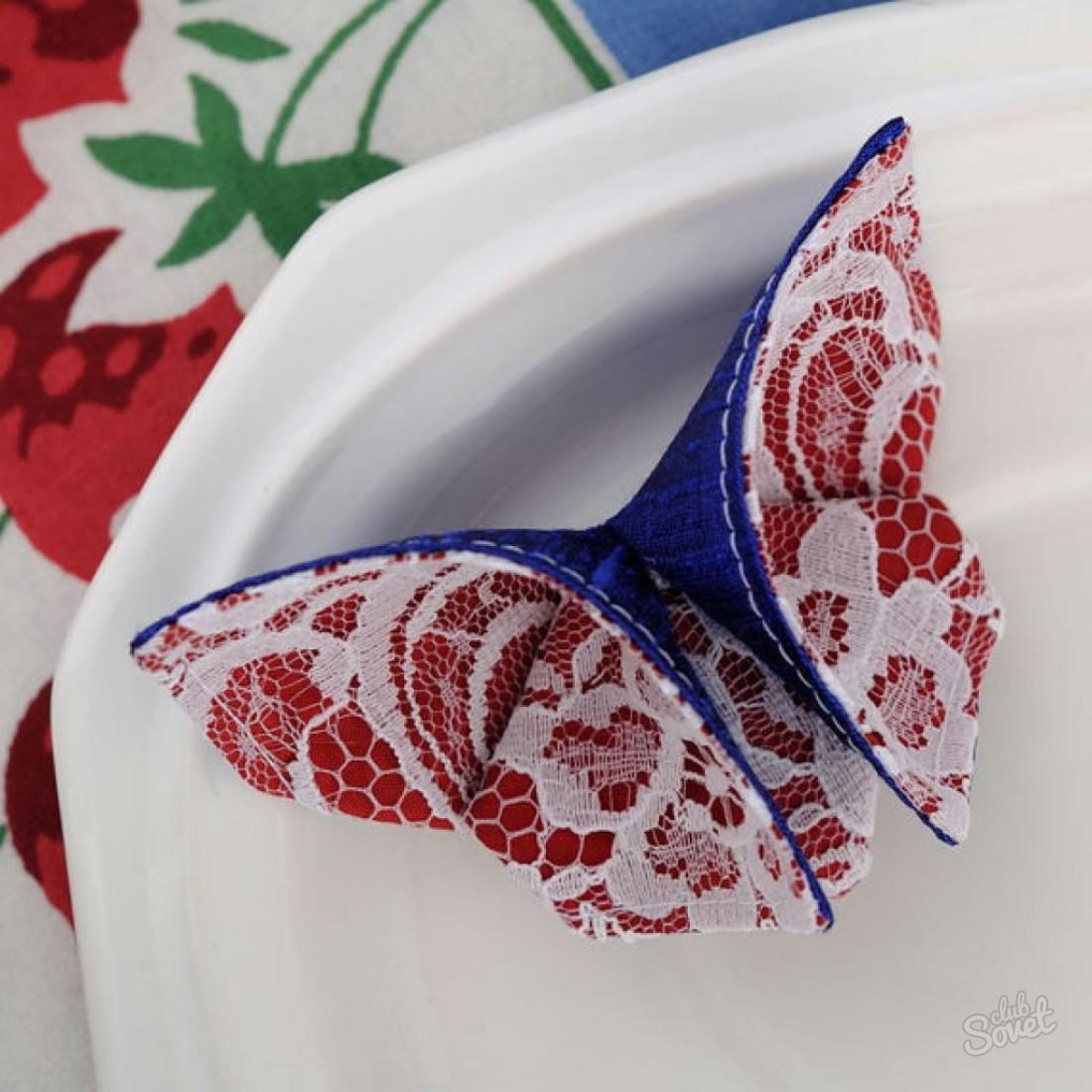 Бабочки поделки из ткани