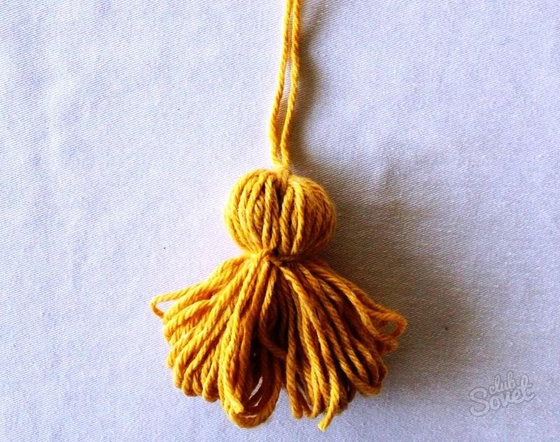 Как сделать своими руками кисточку из ниток мастер-класс по изготовлению