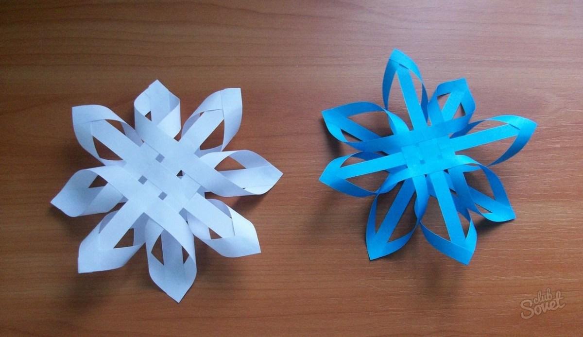 Снежинки своими руками из бумаги просто так