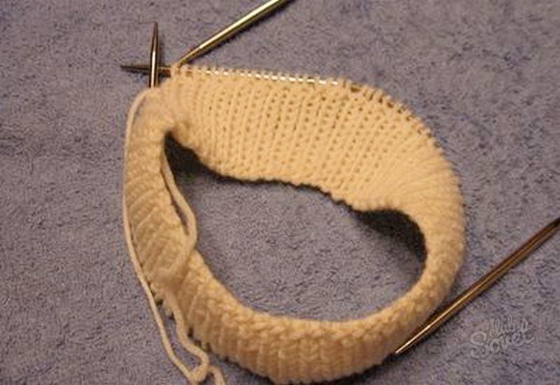Полая резинка при вязании по кругу 70