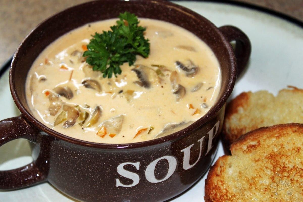 Суп пюре из сушеных белых грибов рецепт пошагово в