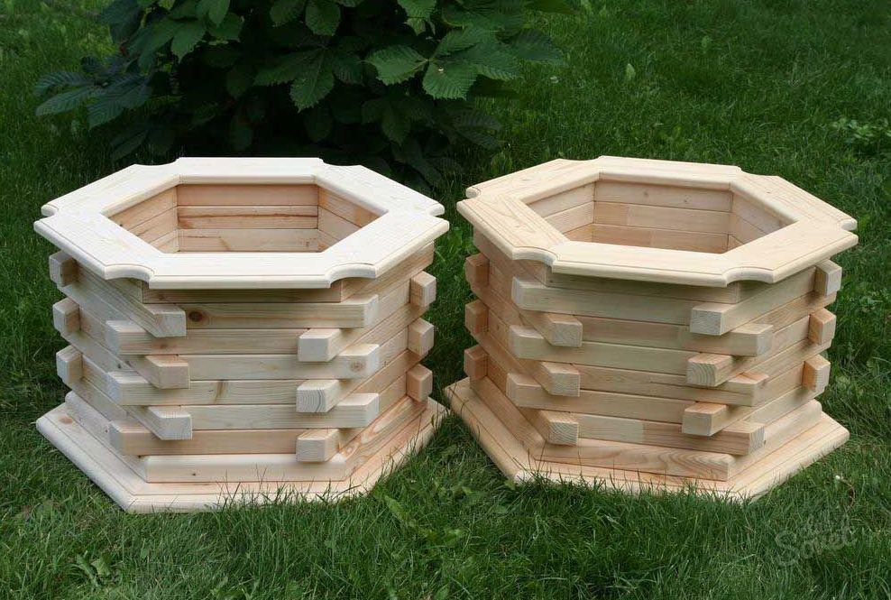 Деревянные ящики для цветов фото