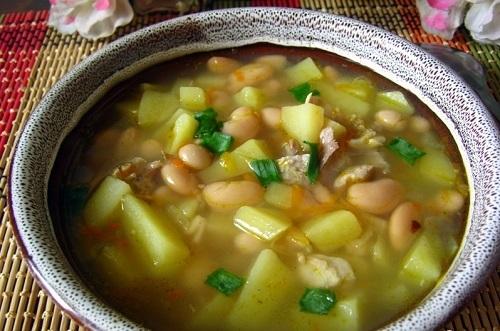 Фасолевый суп из консервированной фасоли рецепт со свининой