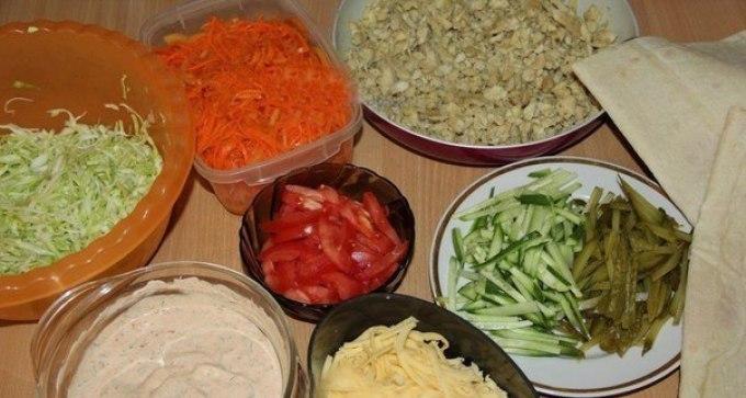 рецепт шаурмы с курицей и корейской морковью в лаваше в домашних условиях