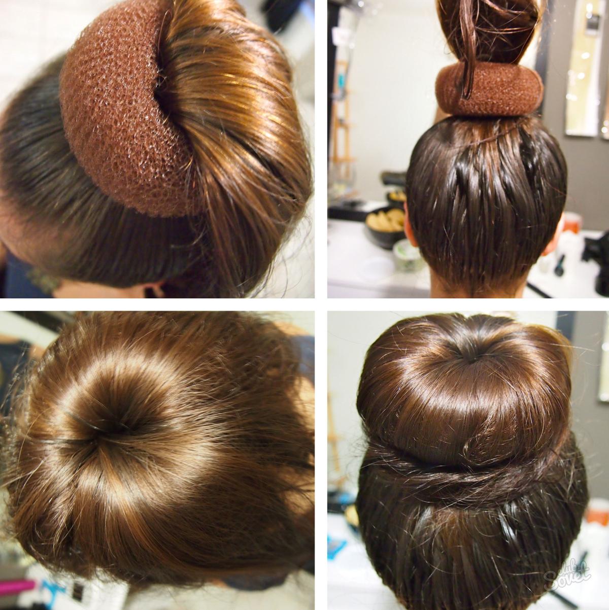 как делать прическу с бубликом для волос