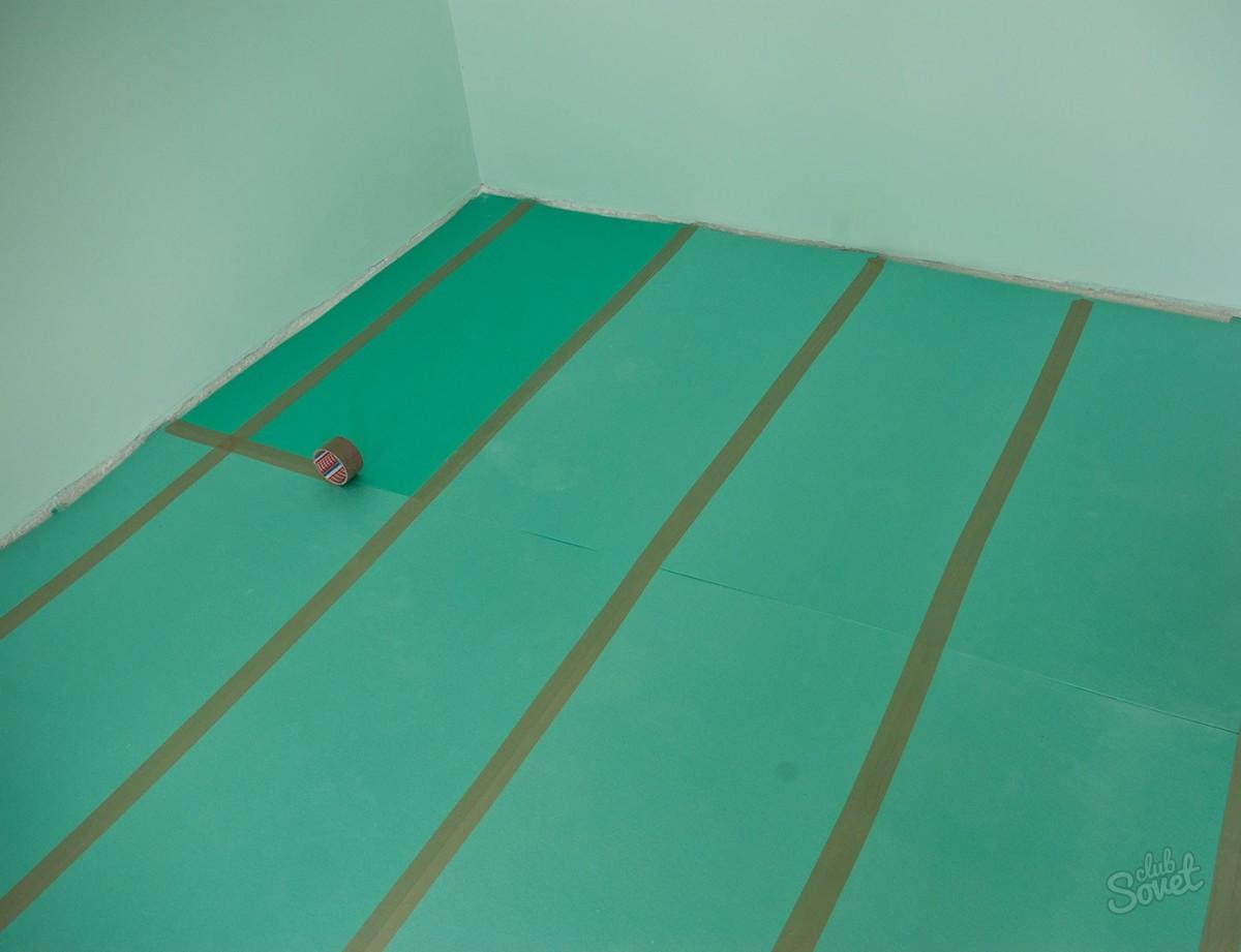 Укладка подложки ламината