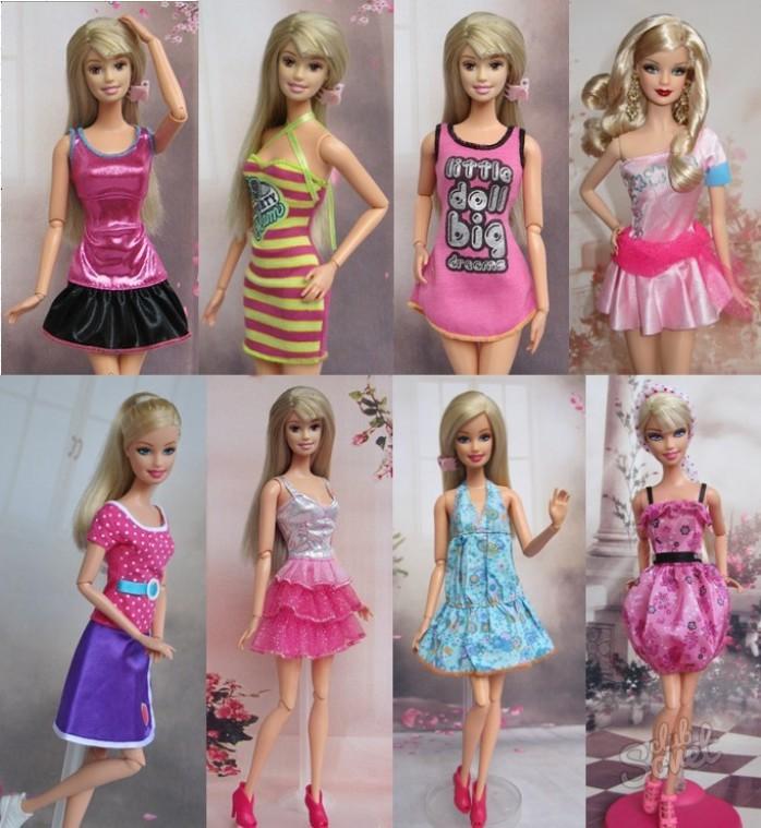 Как сделать костюмы для куклы барби