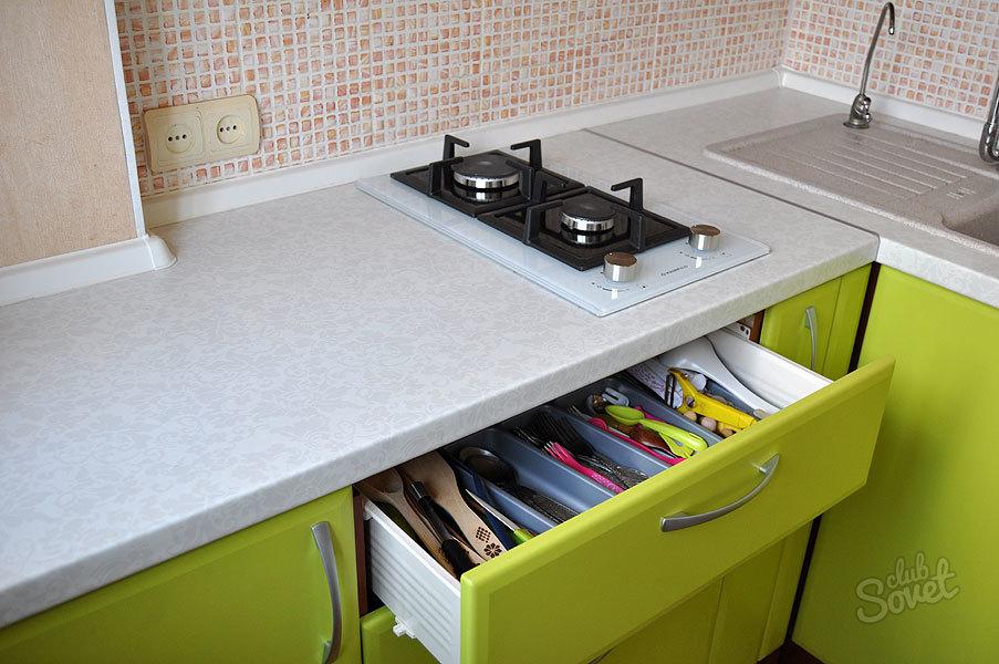 Чем обновить столешницу на кухне своими руками 598