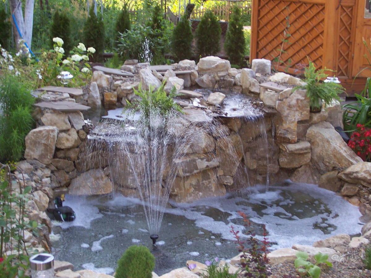 Фонтан водопад на даче своими руками пошаговая инструкция