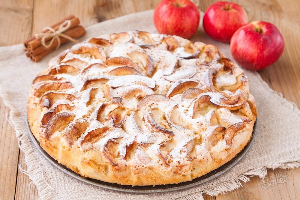 Пирог с яблоками самый простой