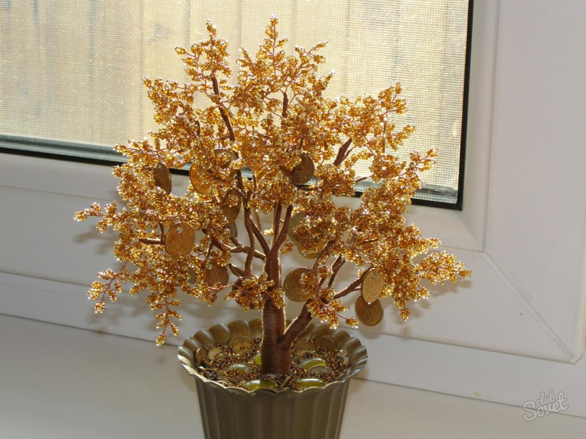 Денежное дерево красивое своими руками